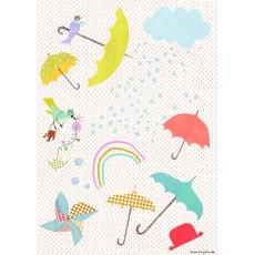 Sticker Les Parapluies