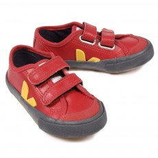 Guris Leather Velcro London Red Citron