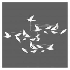 Mobile Oiseaux blancs Katsumi Komagata