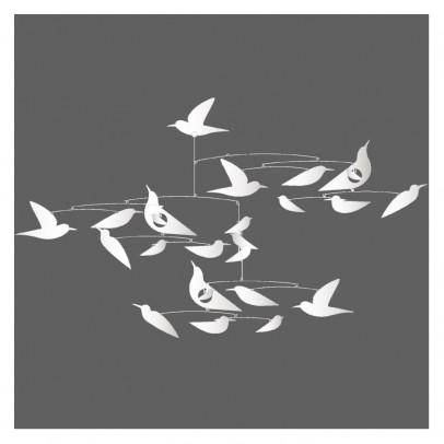 Mobile Oiseaux blancs Katsumi Komagata Blanc  Djeco