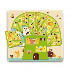 Puzzle 3 niveaux - Cabane dans les arbres
