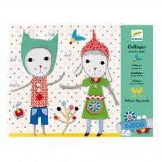Collage pour les petits Tout doux Multicolore
