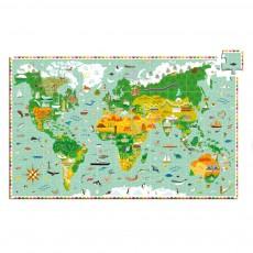 Puzzle Tour du Monde Multicolore