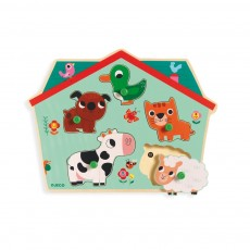 Puzzle sonore Ouaf Woof Multicolore
