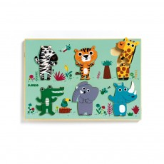 Puzzle Coucou-Croco Multicolore