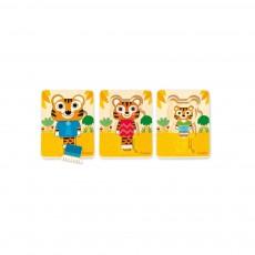 Puzzle 3 niveaux - Tigre Multicolore