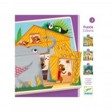 Puzzle 3 niveaux - Cabane Multicolore