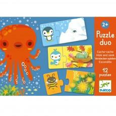 Puzzle Duo Cache-Cache Multicolore