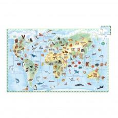 Puzzle Les animaux du monde et livret Multicolore