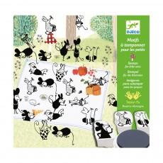 Images à tamponner - Les Petites Souris Multicolore
