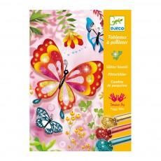 Papillons - Tableaux à pailleter Multicolore