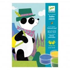 Panda et ses copains - Sables colorés Multicolore