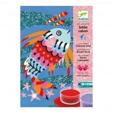 Arcs-en-ciel de poissons - Sable colorés Multicolore