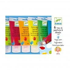 6 Tubes de peinture à doigts Multicolore