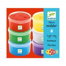 6 Pots de pâtes à modeler Multicolore