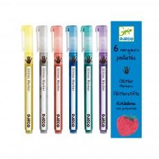 6 Marqueurs pailletés Multicolore