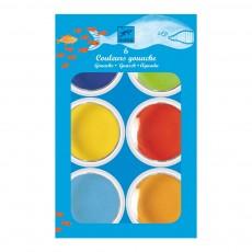 6 Pastilles de gouaches Multicolore