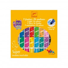 8 Feutres doubles - 16 couleurs Multicolore