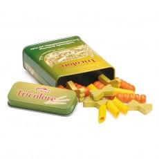Boîte de pâtes multicolores
