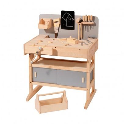 etabli en bois avec sa caisse outils gris howa jeux. Black Bedroom Furniture Sets. Home Design Ideas