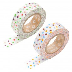 Masking tape - Pois multicolores  (set de 2)