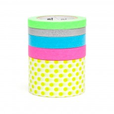 Set de 5 Masking tape - Multicolore