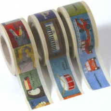Set de 3 Masking tape Kids - Illustrations
