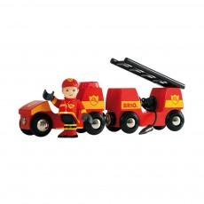 Vehicule de pompier son et lumiere