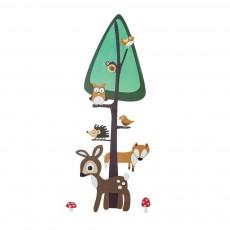 Sticker toise Forêt - 0-130 cm