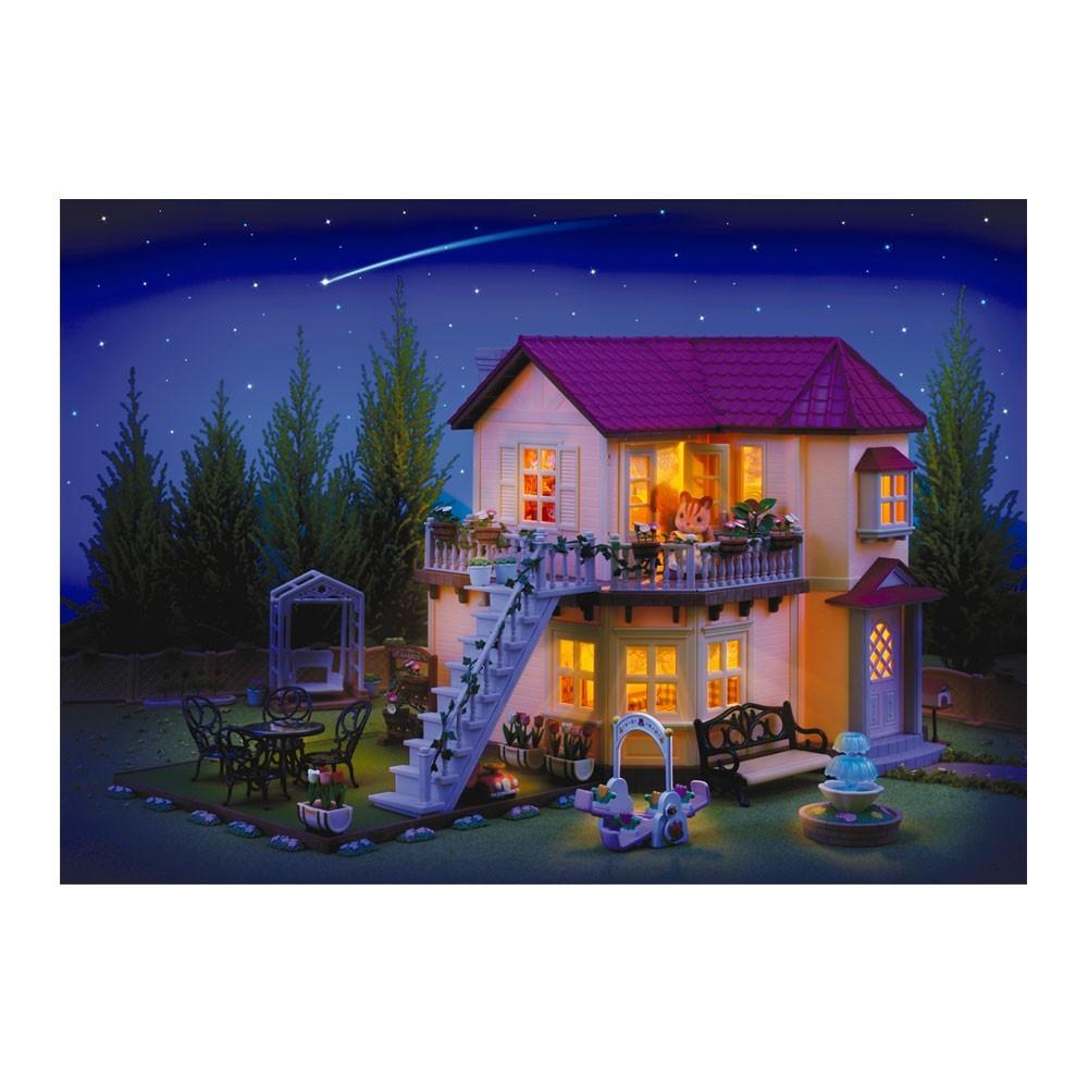 wohnzimmerz: haus beleuchtung with innengarten hinter, Hause und garten