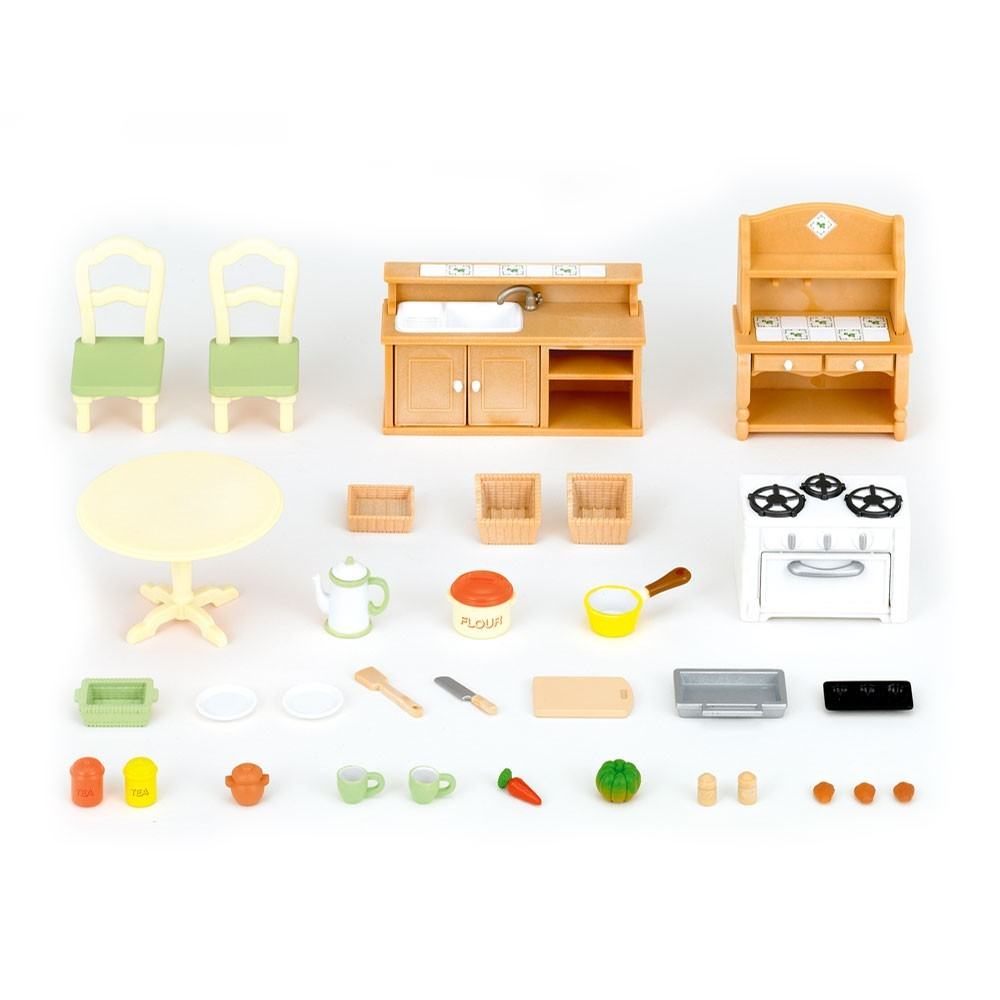 set cuisine sylvanian jeux jouets loisirs enfant smallable. Black Bedroom Furniture Sets. Home Design Ideas