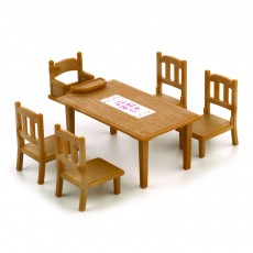 Set table de repas familiale Marron