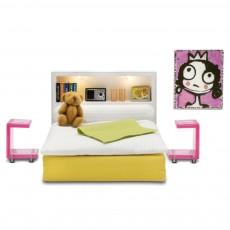 Accessoires maison de poupée : Ensemble chambre