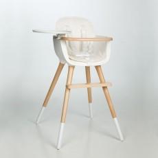 Chaise haute OVO Blanc Naturel