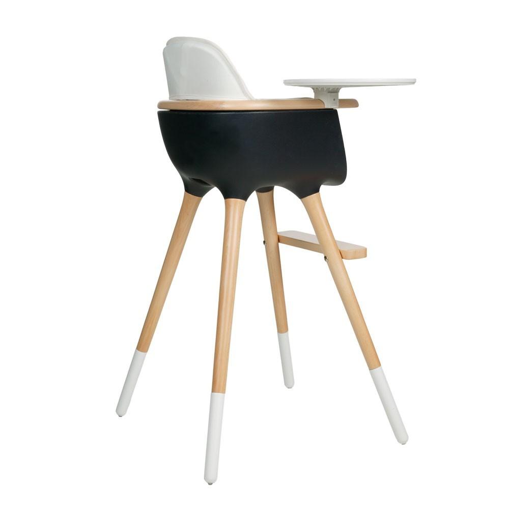 Chaise haute ovo bleu naturel bleu marine micuna for Acheter chaise haute
