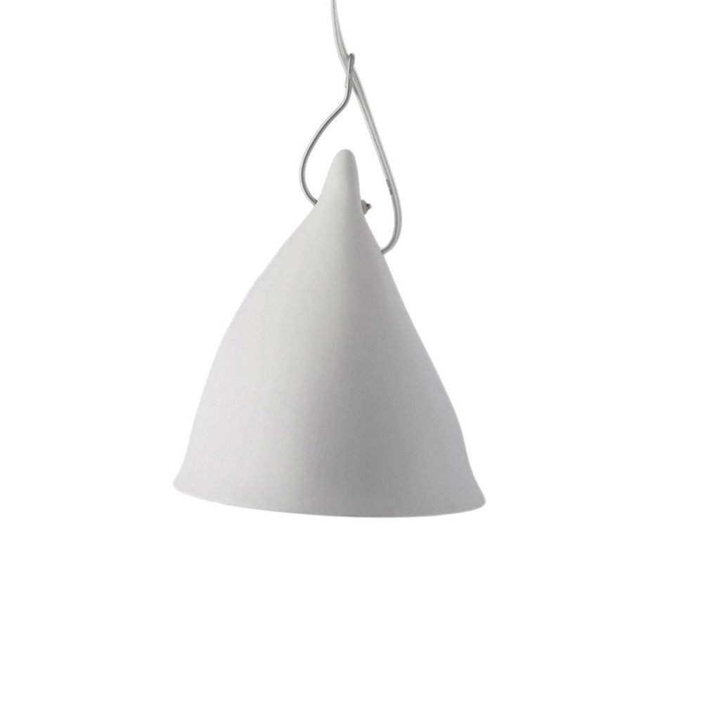 Lampe cornette en porcelaine suspension blanc tse tse - Lampe suspension enfant ...