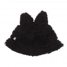 Bonnet Oreilles Fausse Fourrure Noir