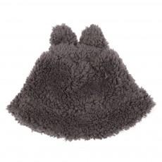 Bonnet Oreilles Fausse Fourrure Gris souris