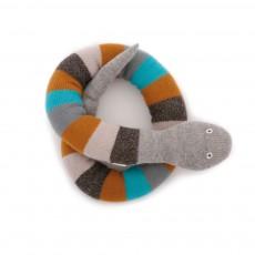Doudou serpent gris