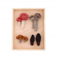 Tableau champignon en crochet - set de 4