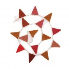 Guirlande drapeaux Rose
