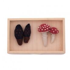 Tableau champignon en crochet - set de 2