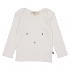 T-Shirt Manches Longues Lapin Blanc
