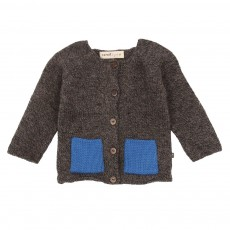 Cardigan poches bi-colores