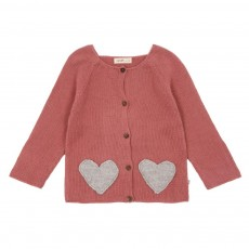 Cardigan Coeur poches bi-colores