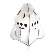 Cabane Fusée en carton recyclé