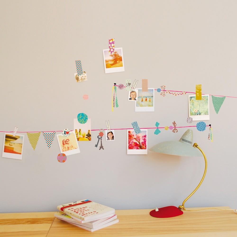 Sticker p le m le fil rose fluo mimi 39 lou d coration smallable - Huis van de wereld pele mele ...