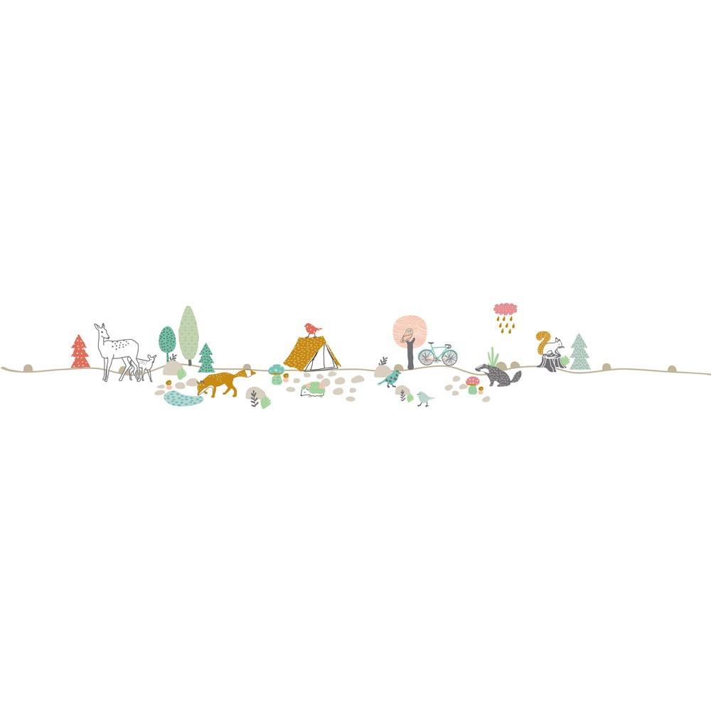 Sticker frise for t mimi 39 lou d coration smallable - Frise papier peint chantemur ...