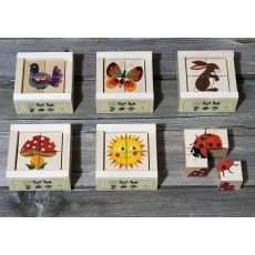Cubes 4 pièces natures