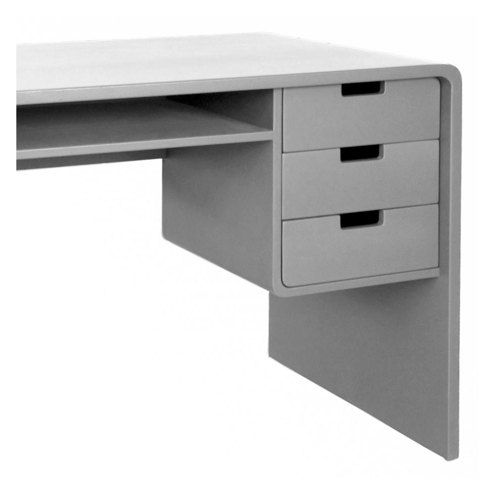 bureau l65 gris clair laurette mobilier smallable. Black Bedroom Furniture Sets. Home Design Ideas